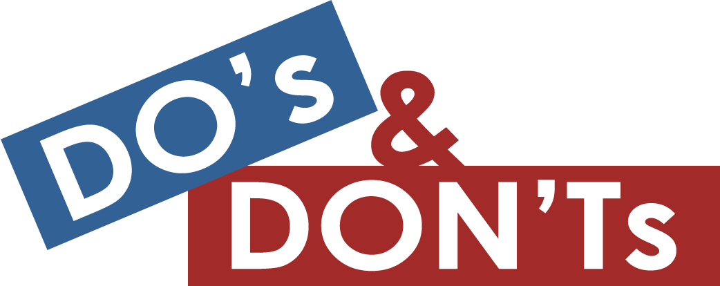 Image result for dos and don'ts